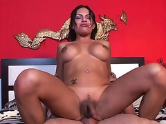 Wild shemale pounding between Foxxy and Jay Ashley would blow up your imagination. The tranny sucks and strokes guys big stiff cock before getting the tool in asshole.