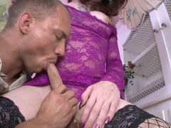 Pale skinned shemale Brittany St Jordan on black fishnet stockings gets her cock sucked and her butthole banged by horny guy John Magnum. Nice hardcore tranny porn!